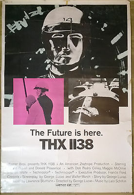 "THX 1138 ORIGINAL MOVIE POSTER 1970s 40x60"" Francis Ford Coppola George Lucas"