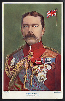 Antique WWI Embossed Military Postcard - Lord Kitchener, Minister of War
