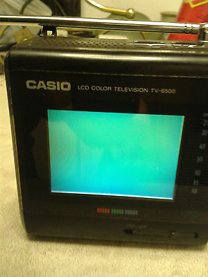 Casio LCD Colour Television Model TV-6500 really collectable item