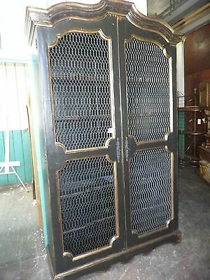 Heavily Carved & Painted French Bookcase, Armoire,China Cabinet- Rare Find! 357A