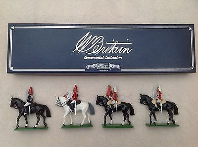 W Britain Ceremonial Collection 4 Die Cast Mounted Soldiers 1988, RARE, Military