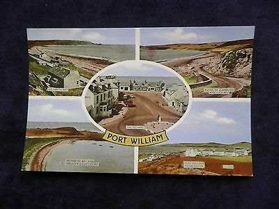 Vintage Scottish Postcard of Port William, Monreith Bay, St. Medan's Golf Course