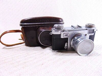 Vintage German Karl Zeiss Contax 50mm Sonnar Camera Works