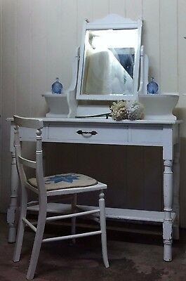 Victorian White Painted Dressing Table