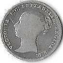 Uk 1848 Victorian Young Head Silver Groat - (#158-Bk4)