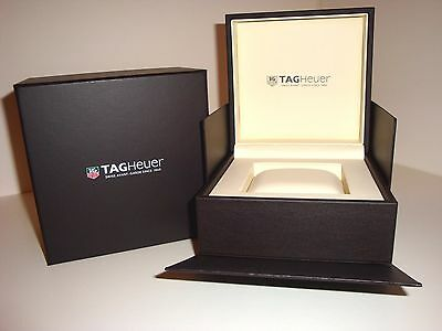 Tag Heuer Large Black Watch Box With Instruction Book ~ No Watch ~ New