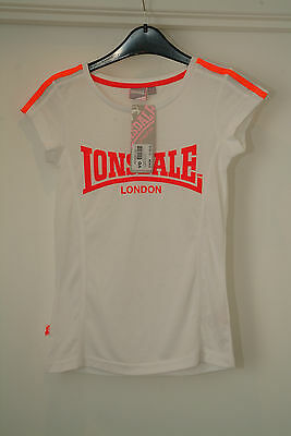 New (with Tag) Lonsdale Girls White T Shirt Age 11-12 Small Fit- Suggest 10 Year