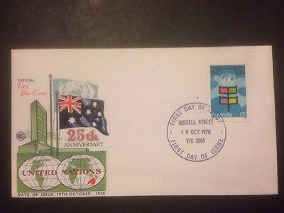 Australia - 1970 United Nations 25th Anniversary FDC (a181)
