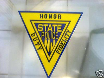 *inside* Njsp New Jersey State Police Window Decal