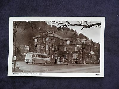Vintage Photochrom Welsh Postcard of Betws-y-Coed, Swallow Falls Hotel