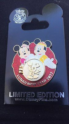 Disney Pin Lunar New Year 2017 Year of the Rooster Mickey and Minnie Mouse