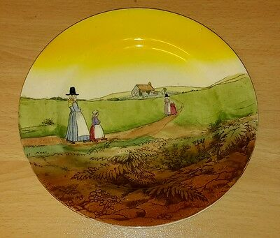 Royal Doulton Series Ware Welsh Lady Salad Plate Stamped  for Mar 1906