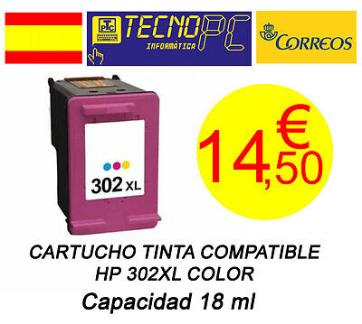 Cartucho Tinta Compatible HP 302XL Color NO OEM