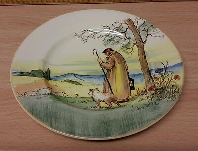 Royal Doulton Series Ware The Cotswold Shepherd Side Plate Stamped June 1936