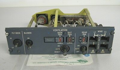 Airbus 62VU Aircraft Vent Fan Deice Control Panel