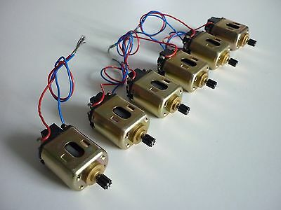 6 x Vintage Mabuchi FT-16D slot car motor -  New Old Stock from 1974