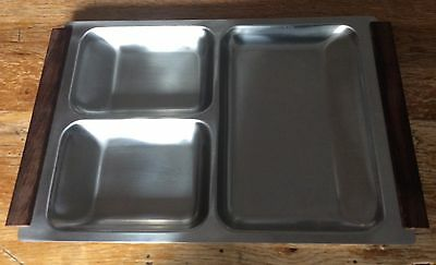 Vintage Stainless Steel Serving Dish