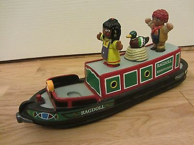 Rosie & Jim Rag Doll Canal Boat Barge Narrow Boat Bath Toy Complete 3 Figures