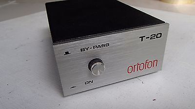 ORTOFON T-20 Moving Coil Transformer VINTAGE RARE HIGH QUALITY with Owner Manual