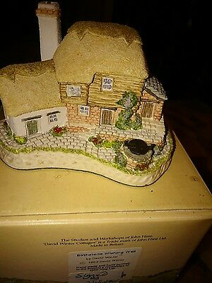 David Winter cottages Birthstone Wishing Well signed