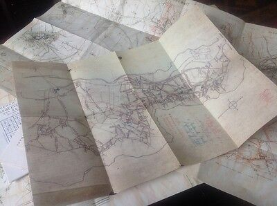 Set of seven new Somme trench maps Beaumont, Thiepval, Ovillers, Serre etc