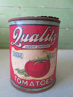 Antique Advertising Tin Can Quality Brand Tomatoes Toronto