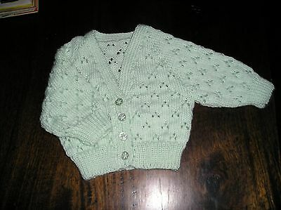 Baby's Mint Green Lace Cardigan. Size 000. Gorgeous.