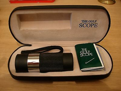 The Focus Golf Scope Monocular Range Finder 8 x 21 mm with Case & instructions