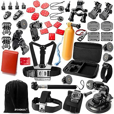 Zookki Outdoor Sports Bundle for Gopro Hero Accessory Kit for Xiaomi Adventure
