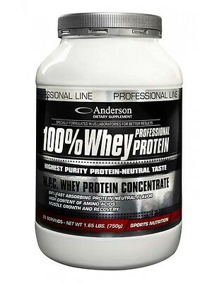 ANDERSON PROFESSIONAL 100% WHEY PROTEIN CONCENTRATE 2000g + BCAA 500 COMPRESSE
