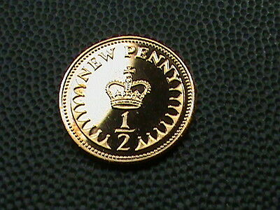 GREAT  BRITAIN    1/2  penny   1980    PROOF
