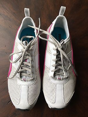 Puma Women's Pink and White Mesh Athletic Shoe Size 8
