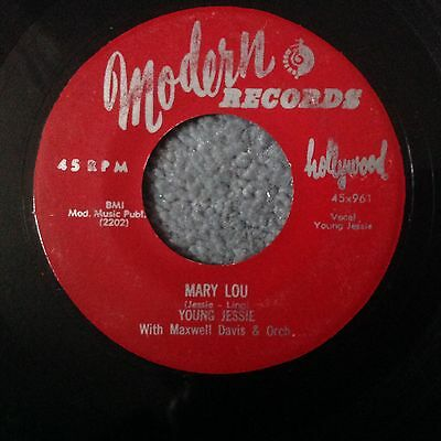 Young Jessie-Mary Lou/don't Think I Will-Modern Records 961.