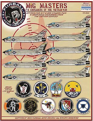 """1/72 Furball F-8 decals """"MIG Masters"""" for the Academy Kit"""
