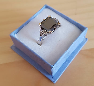 Ring with 4.32 ctw Genuine Diamonds in solid 14K White Gold