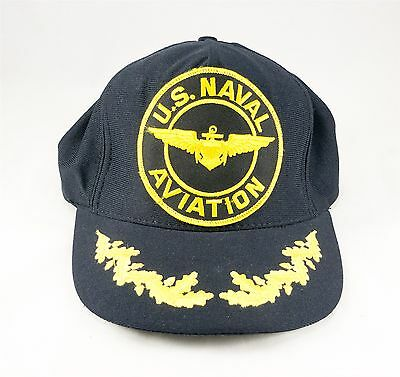 US Naval Aviation Navy Military Hat Cap Snap Pilot Plane FREE SHIP Made in USA