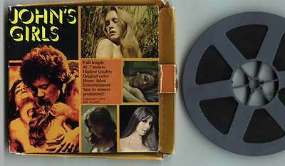 JOHN'S Holmes GIRLS Movie 8mm Color Film Reel w/ Booklet FAMOUS PORN STAR