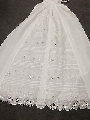 Antique Christening Gown Long Length