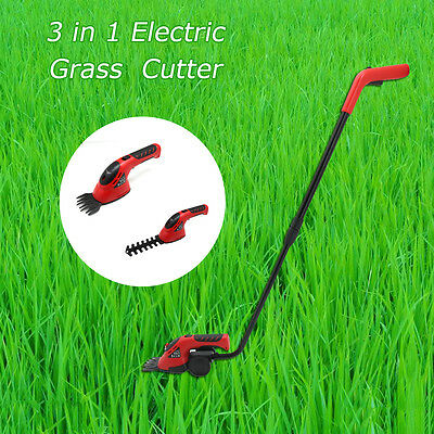 3.6V 3in1 Li-Ion Cordless Garden Power Tool Pruning Hedge Trimmers Grass Cutter