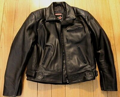 Mens RST Leather Motorcycle Motorbike Riding Jacket + Armour Size 42UK RRP $500