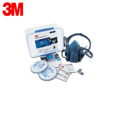 3M - Facepiece Soldering / Welding / Fume Respirator Mask Kit - AT010590654
