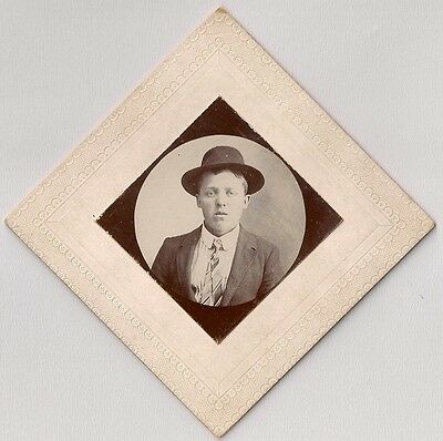 Portrait of Young Man in Suit and Hat Antique Photograph Lynchburg VA