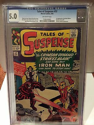 Tales of Suspense # 52 • 1st Black Widow • CGC 5.0 OW Pages