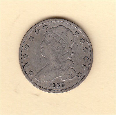1835 Capped Bust Liberty Quarter - *FULL LIBERTY - NICE!* USA US coin early date