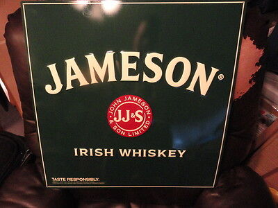 Jameson Irish Whiskey Tin Metal SIGN - Brand New