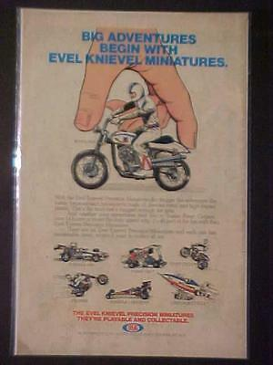 Rare Evel Knievel Miniatures Die-Cast Toy Motorcycles Orig Print Ad Vintage 1976