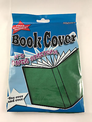 It's Academic Stretchable Fabric School Book Cover Up to 8.5in x 11in Green