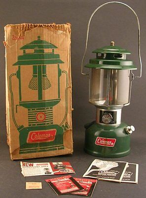 Vintage Coleman Model 220 H Lantern W/Box And Paperwork