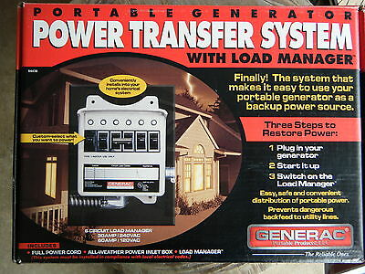 NIB Generac Portable Generator Power Transfer System with load manager #1276