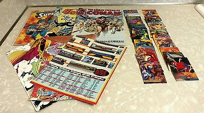 LOT of MARVEL Comics Posters Spiderman Ultra Fleer Trading Cards